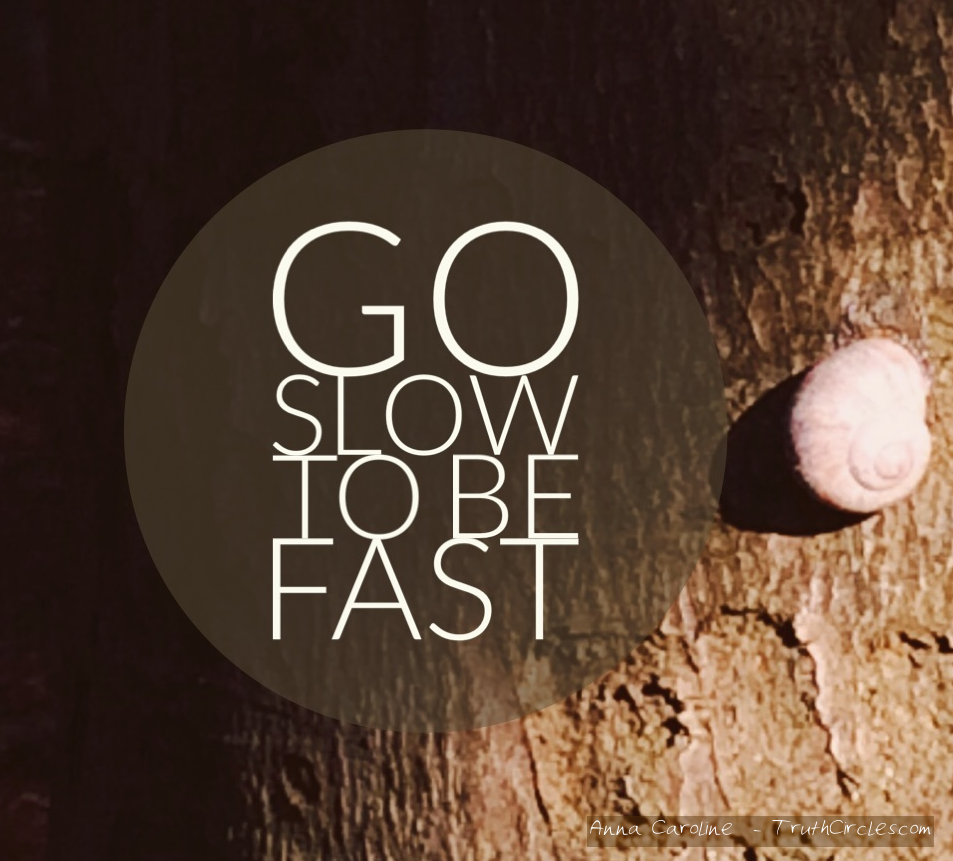 Go slow to be fast